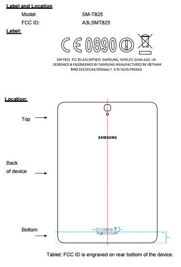 FCC Galaxy Tab S3