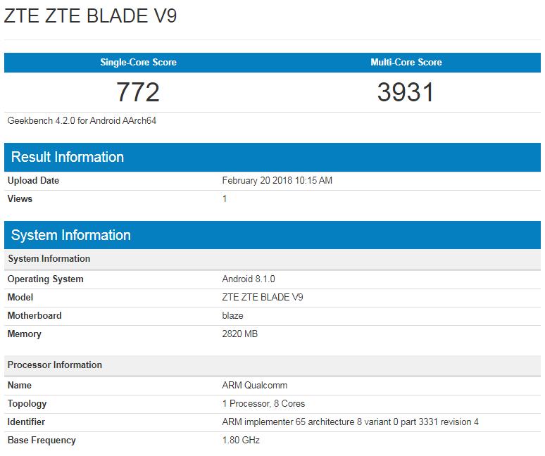 benchmark blade v9