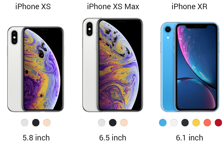 iphone xs xr modellen