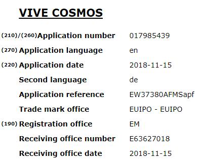 vive cosmos
