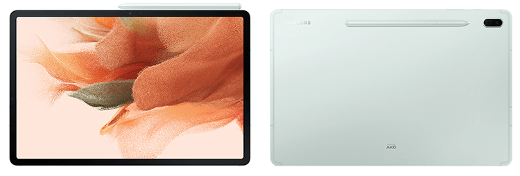 galaxy tab s7 fe front back